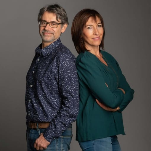 Nathalie Bello and Chris Decroix, the founders of Twoons communications